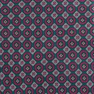 Liberty Of London Italian Silk Necktie Narrow Tie Aqua Teal Fuchsia Diamond Circle Fowlard 58