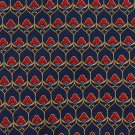 Resilio Italian Silk Necktie Art Nouveau Small Print Blue Gold Window Panes 58.5