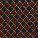 Ponte Vecchio Italy Silk Necktie Extra Long 60 Tie Stripe Trellis Flower Blue Crimson Gold Green