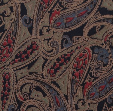 Courchevel Italian Silk Skinny Necktie Mens Tie Classic Paisley Taupe Brown Blue Red 57
