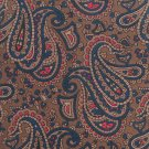 Hanover Paisley Silk Necktie Mens Tie Brown Coco Blue Red Classic Executive 58