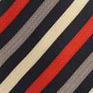Colours Alexander Julian Silk Necktie Extra Long 61 Mens Tie Stripe Blue Red Tan Gold