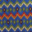 Paul Fredrick Silk Necktie Mens Tie Colorful Royal Blue Red Green Mustard Zig-Zag 57
