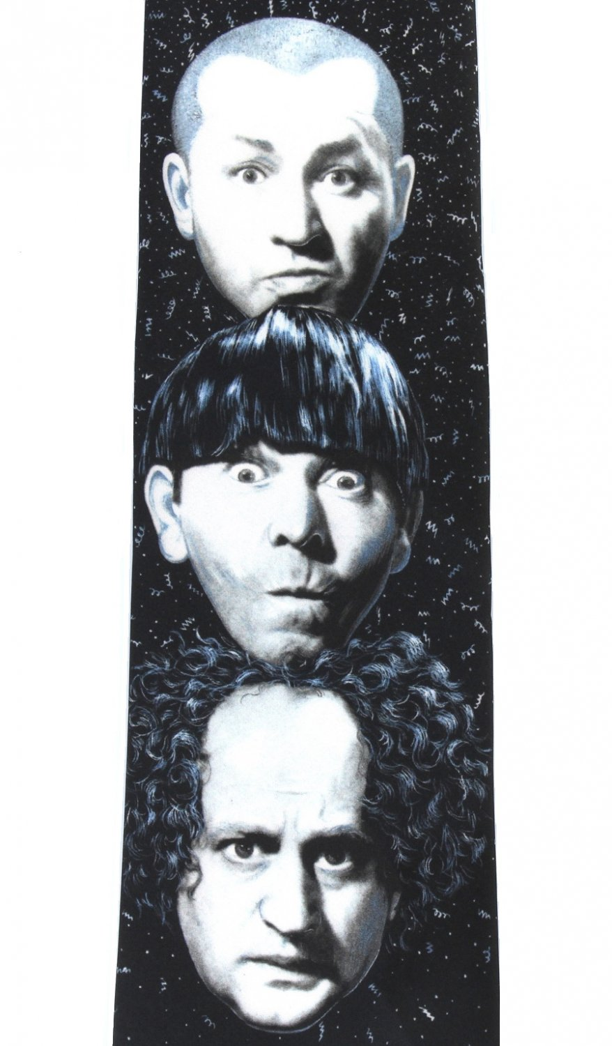 Three Stooges Necktie Mens Tie Larry Moe Curly Comedy Fun Party Ralph Marlin 1996
