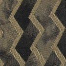 Murano Italian Silk Necktie Tie Black Gold Bronze Zig Zag Chevron Mod Abstract 57