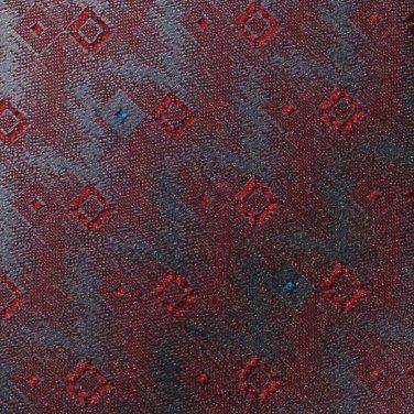 Wembley Vintage Necktie 60s Skinny Tie Chevron Blue Silver Maroon Wemlon 57