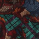 JT Beckett Necktie Mens Extra Long Silk Tie Mod Paisley Plaid Maroon Teal Blue 60