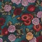 Floral Necktie Italian Silk Don Loper Mens Tie Rose Flower Teal Lavender 57