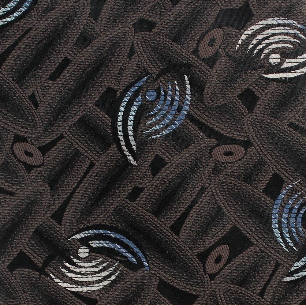 Don Loper Beverly Hills Vintage Necktie Tie Black Tan Blue Retro Mod Abstract