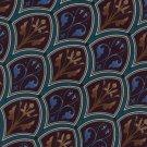 Christian Dior Italian Silk Tie Necktie Blue Tan Teal Classic Executive Art Nouveau  58