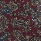 Don Loper Beverly Hills Vintage Necktie Tie Italian Silk Paisley Maroon Teal Gold 58
