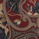 Paisley Silk Necktie Bert Pulitzer Tie Maroon Blue Gold Classic Executive 58
