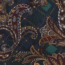 Italian Silk Necktie Extra Long 63 Renovati Tie Argyle Paisley Green Maroon Gold