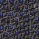 Ferrell Reed Veritas Italian Silk Necktie Black Purple Herringbone Chevon 58
