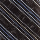 Vintage Skinny Tie Mens Necktie Mad Men Narrow Stripe Dark Brown Blue Polyester Sears 55
