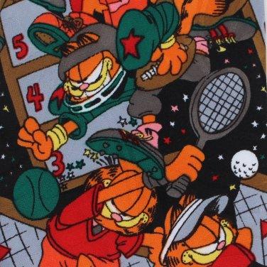 Garfield Necktie Sports Tie Basketball Weight Lifting Baseball Tennis Golf 1978