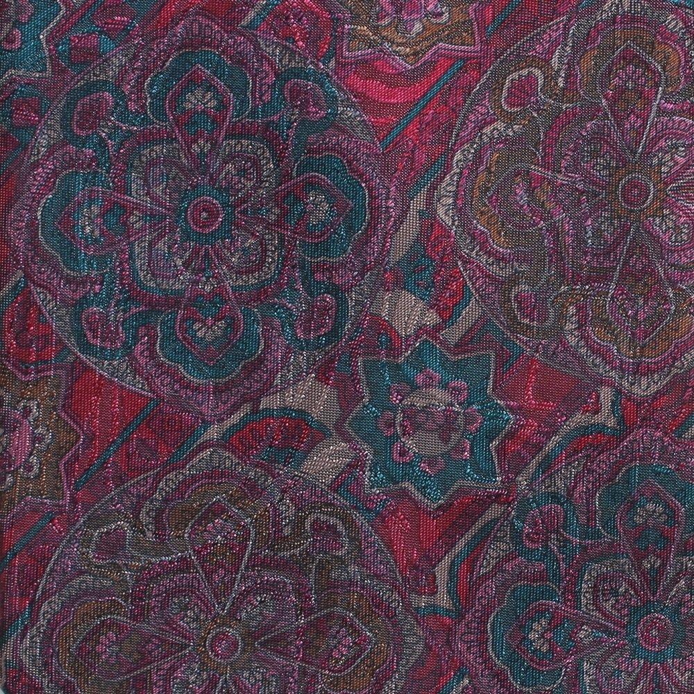 Oleg Cassini Vintage Tie Mod Paisley Disco Rose Teal Purple Shine Funky 57