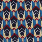 Fumagalli Italian Crepe Silk Necktie Mens Tie Abstract Blue Red Yellow 58