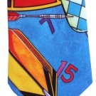 Ralph Marlin Necktie Dartboard Darts Target Funky Modern Blue Red 57 Novelty Sports