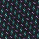 Robert Talbott Silk Necktie Mens Tie Teal Purple Black Woven Diagonal Mod Stripe 58