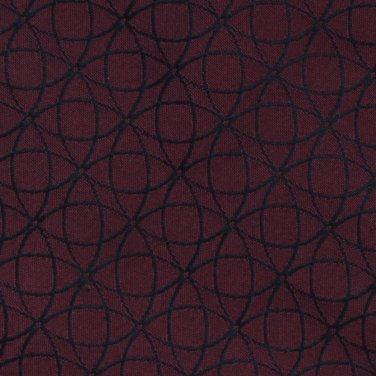 Harold Powell Italian Silk Necktie Mens Tie Crimson Red Black Circle Web Mod 59