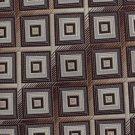 Bergamo NY Boys Teen Necktie Woven Polyester Squares Gold Brown Skinny Tie 47