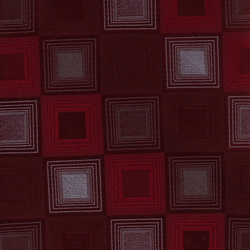 Murano Silk Extra Long 61 Necktie Mens Tie Red Crimson Silver Squares Mod Checker Board