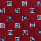 JOS A Bank Silk Necktie Mens Tie Woven Crimson Red Blue Diamond Exectutive 58