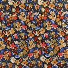 Embassy Row Floral Tie Silk Gold Blue Orange Flowers England Executive