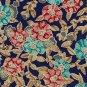 Christian Dior Monsieur Italian Silk Necktie Mens Tie Floral Blue Gold Aqua Short 56.5