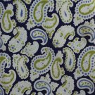 John Stephen Carnaby Street Silk Tie Vtg Paisley Blue Lime Green 60s London Peacock Revolution