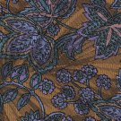 Adolfo Necktie Brass Copper Paisley Floral Purple Blue Designer Fashion 59