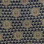 Fleur-de-lis Silk Necktie Rene Chagal Extra Long 61 Mens Tie Blue Gold Medallion