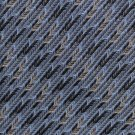 Joseph Feiss Woven Silk Tie Necktie Chevron Steel Blue Black Tan Classic Executive 59