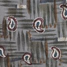 Mod Paisley Italian Silk Tie Mens Necktie JT Beckett Silver Gray Maroon 59 Made USA