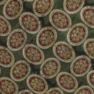 Roundtree Yorke Silk Necktie Hand Sewn USA Olive Green Medallion Executive Long 59