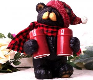 Northwood Bear Salt and Pepper Holder