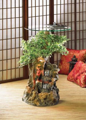 Bonsai Water Fountain Table