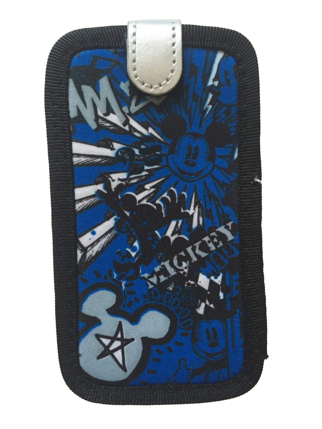 Disney Mickey Mouse Smartphone Cell Phone Case Graffiti Blue/Silver