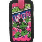 Disney Mickey Mouse Smartphone Cell Phone Case Graffiti Hot Pink/Green