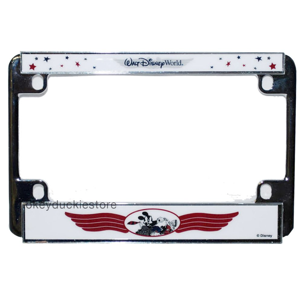 Walt Disney World Mickey Mouse Motorcycle/Bike License Plate Frame