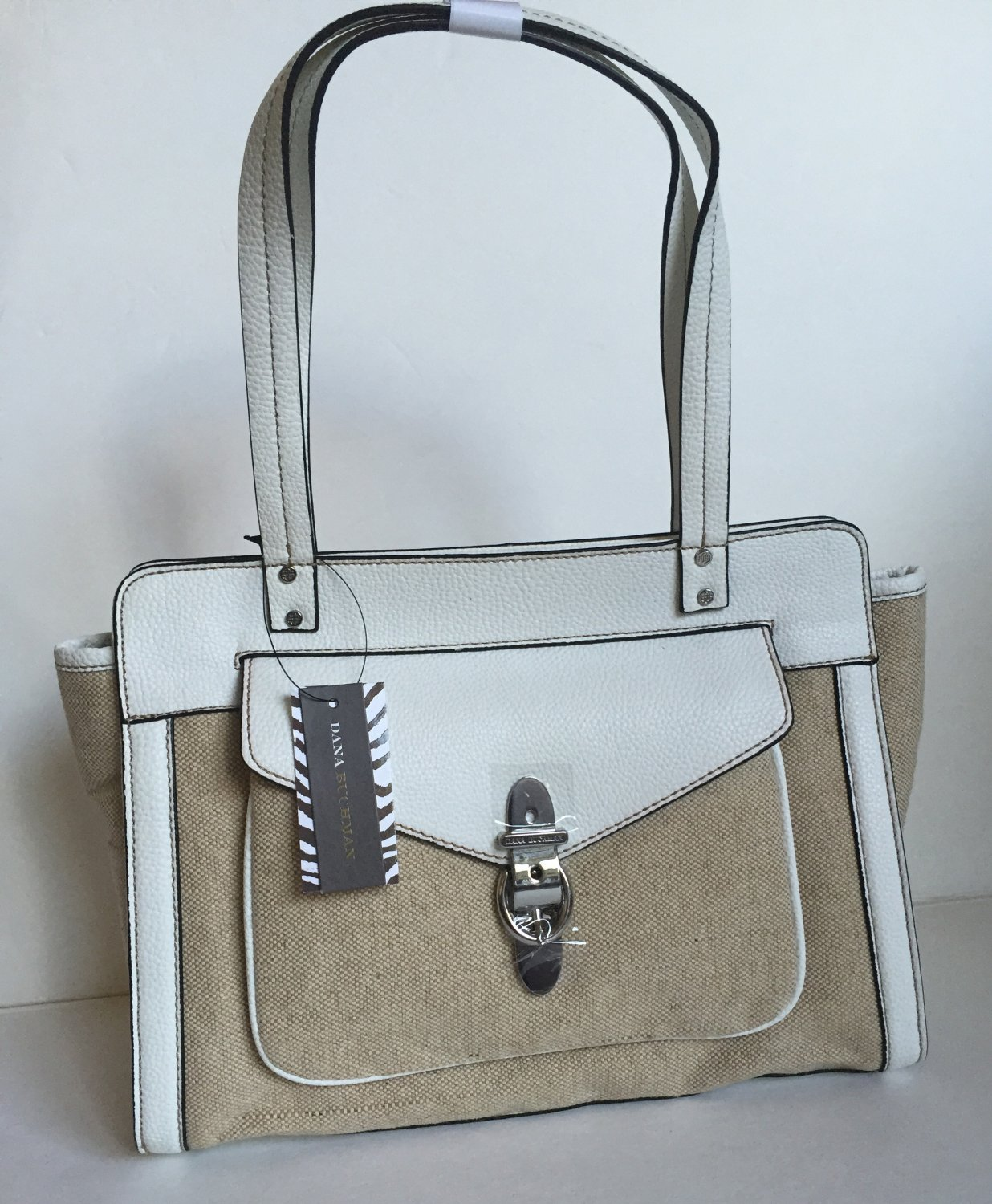 Dana Buchman Medium Buckle Shopper White Handbag HB21362