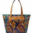 Fossil Keyper Shopper Blue Multi Tote Handbag ZB5605403