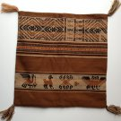 Made in Peru Ethnic Cushion Cover Llama Condor Canvas Embroidered Fafric Brown