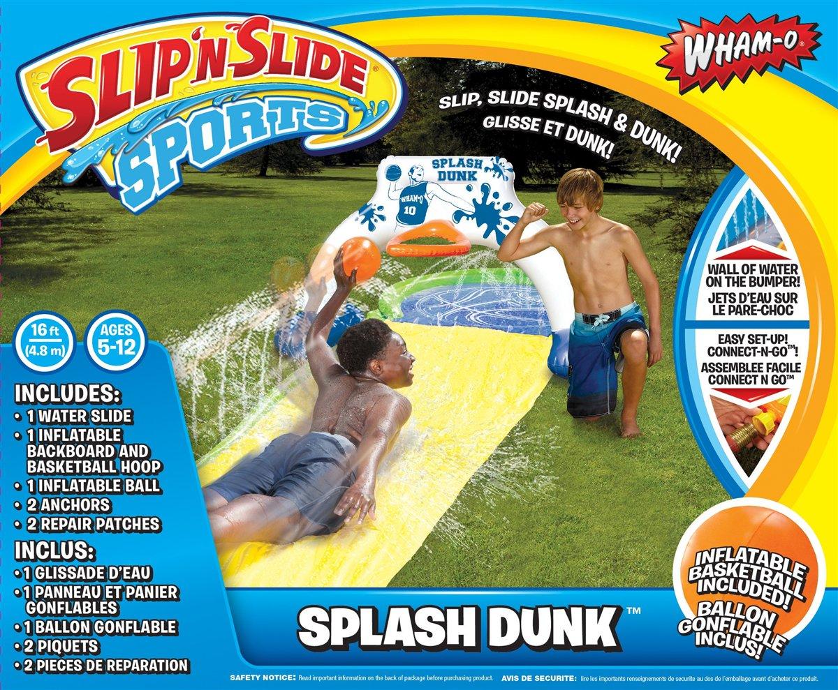 16 Feet Wham-o Slip N Water Slide Sports Basketball Splash Dunk Ages 5-12