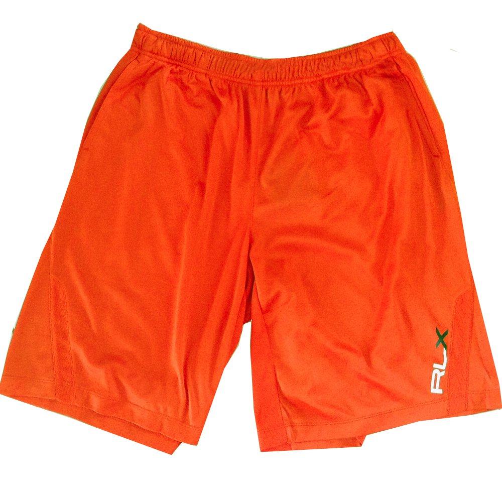 Men's XL Polo Ralph Lauren RLX Fitness Sport Shorts Orange