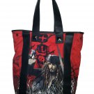 Disney Hot Topic Pirates of the Caribbean Red Large School Tote Handbag