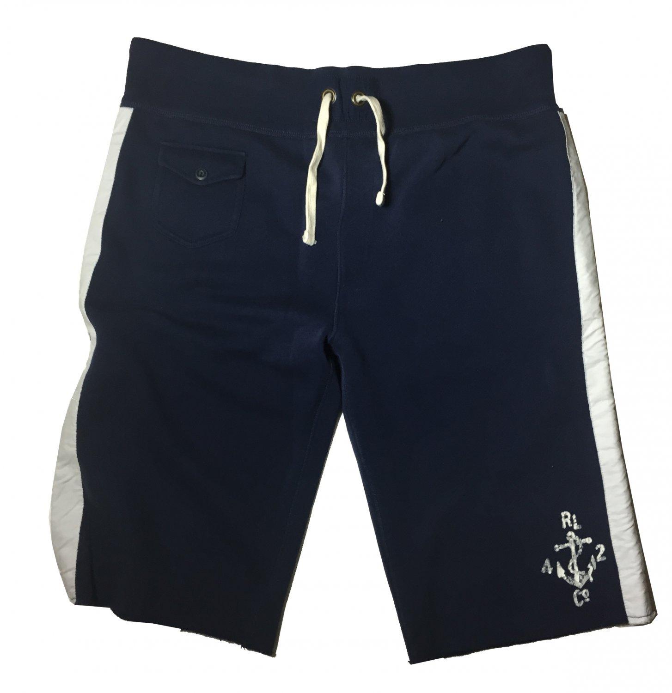 Large Polo Ralph Lauren Lounge Men's Naval Club Shorts Blue