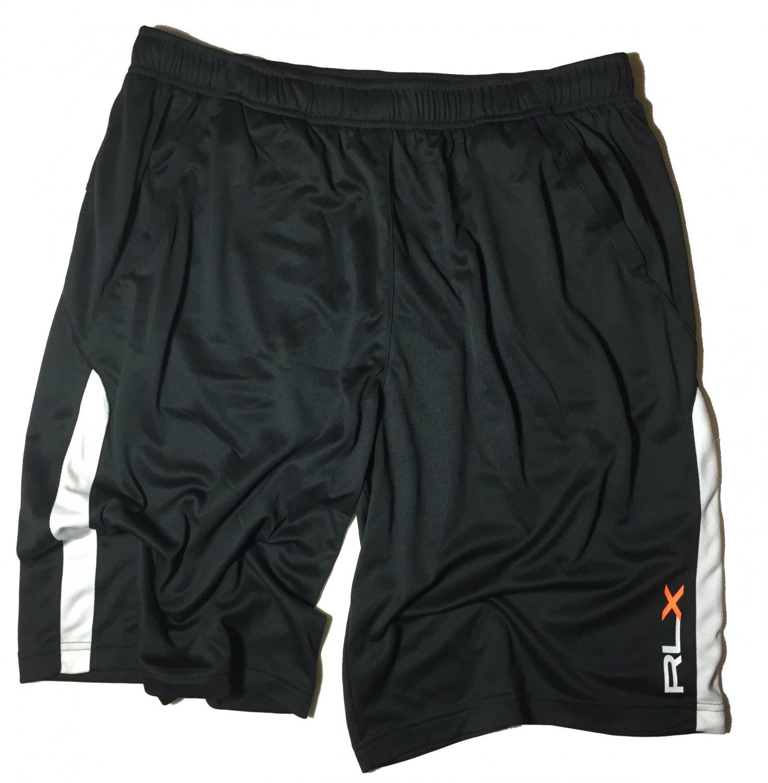 Men's XXL RLX Polo Ralph Lauren Black Active Basketball Running Shorts