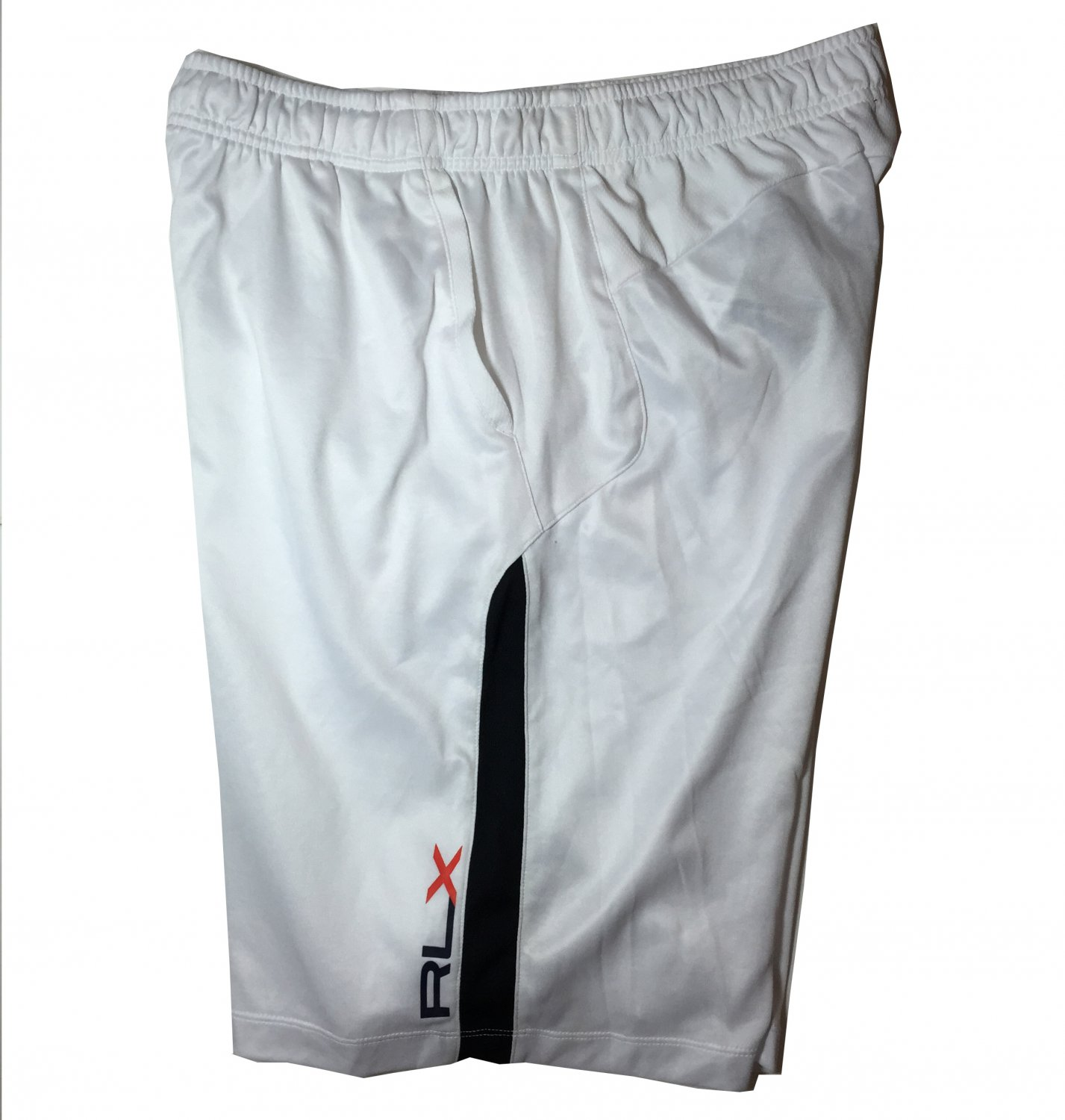 Men's XL RLX Polo Ralph Lauren White Active Basketball Running Shorts